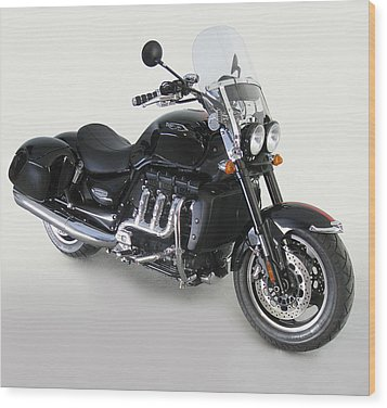 Wood Print featuring the photograph Triumph Rocket IIi by Richard Wiggins