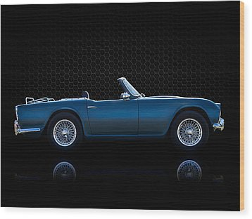 Triumph Tr4 Wood Print by Douglas Pittman
