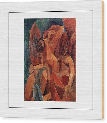 Trois Femmes Three Women  Wood Print by Pablo Picasso