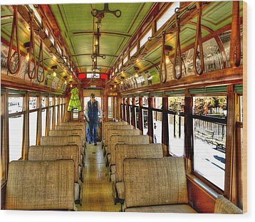 Wood Print featuring the photograph  Trolley by Raymond Earley
