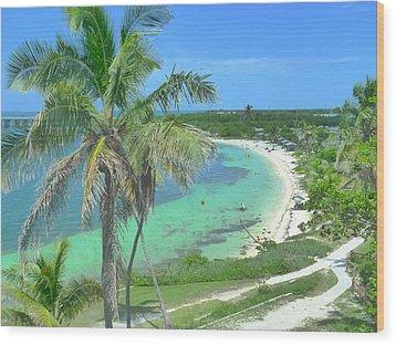 Tropic Beach Wood Print
