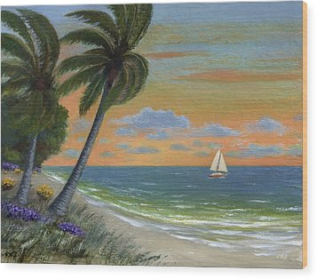 Wood Print featuring the painting Tropic Breeze by Gordon Beck