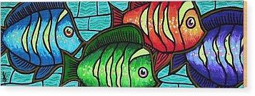 Tropic Swim Wood Print by Jim Harris