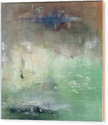 Wood Print featuring the painting Tropic Waters by Michal Mitak Mahgerefteh