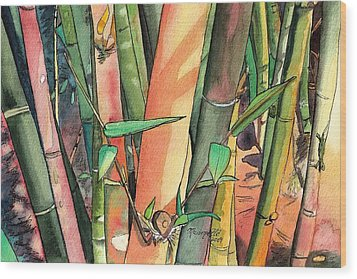 Tropical Bamboo Wood Print by Marionette Taboniar