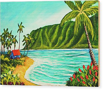 Tropical Beach #361 Wood Print by Donald k Hall