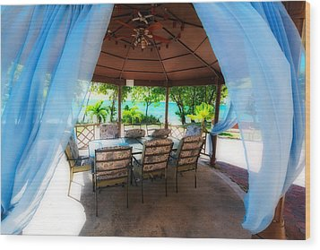 Tropical Breeze Wood Print by George Oze