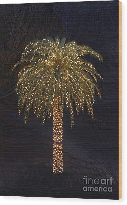 Tropical Christmas Wood Print by Kevin McCarthy