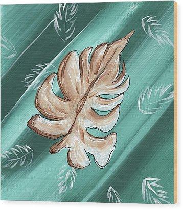 Tropical Dance 1 By Madart Wood Print by Megan Duncanson