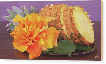 Tropical Delight Still Life Wood Print by Ben and Raisa Gertsberg