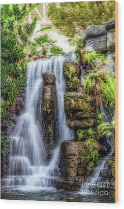 Tropical Falls Wood Print