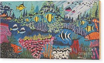 Tropical Fish Colors Wood Print by Jeffrey Koss