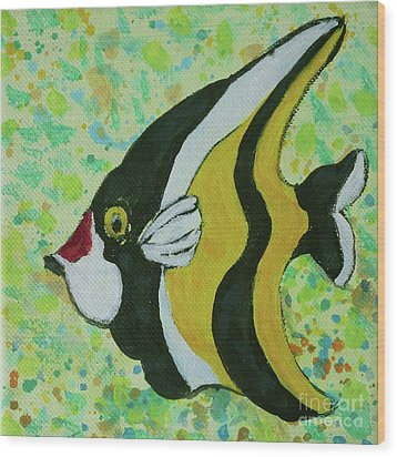 Tropical Fish Series 1 Of 4 Wood Print