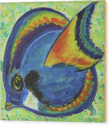 Tropical Fish Series 3 Of 4 Wood Print