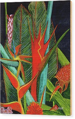 Tropical Flowers Assortment #60 Wood Print by Donald k Hall
