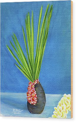 Tropical Flowers Still Life #218 Wood Print by Donald k Hall