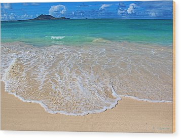 Tropical Hawaiian Shore Wood Print by Kerri Ligatich