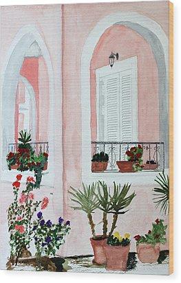 Tropical Home Wood Print by Cathy Jourdan