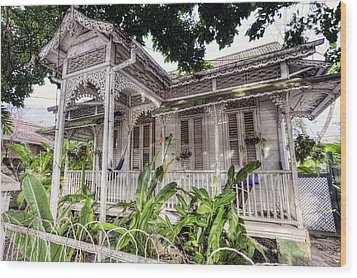 Tropical House Wood Print