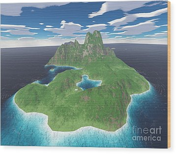 Tropical Island Wood Print by Gaspar Avila