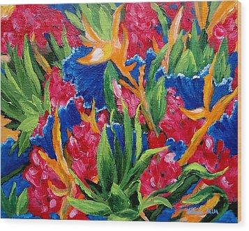 Tropical Wood Print by Jamie Frier