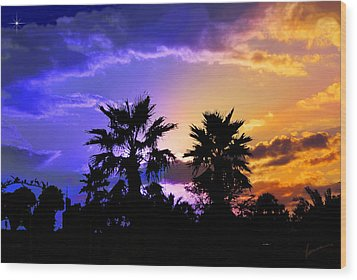 Wood Print featuring the photograph Tropical Nightfall by Francesa Miller