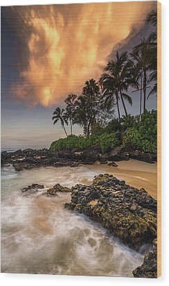 Wood Print featuring the photograph Tropical Nuclear Sunrise by Pierre Leclerc Photography