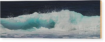 Tropical Ocean Surf Wood Print by Scott Cameron