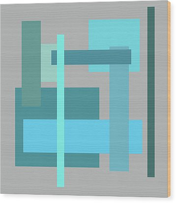 Tropical Oceans Square Abstract Wood Print