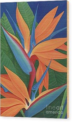 Tropical Paradise Wood Print by Lisa Bentley