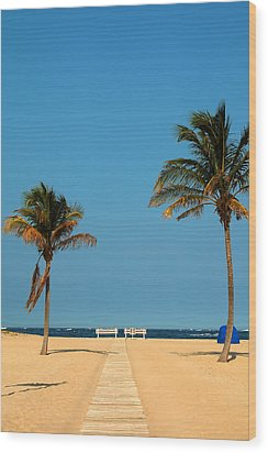 Tropical Paradise Wood Print by Mandy Wiltse