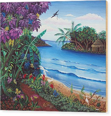 Tropical Paradise Wood Print