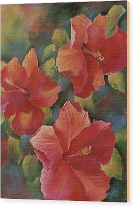 Wood Print featuring the painting Tropical Punch by Ann Peck