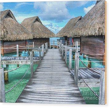 Tropical Resort Paradise Seascape Florida Keys 01 Wood Print