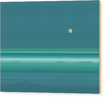 Wood Print featuring the digital art Tropical Seas by Val Arie