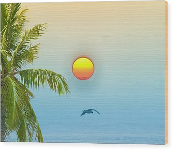 Tropical Sun Wood Print by Bill Cannon