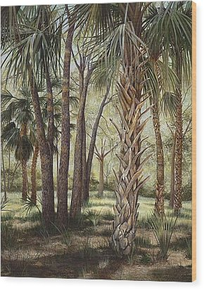 Tropical Trail's End Wood Print by AnnaJo Vahle