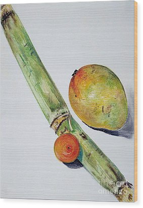 Tropical Trio Wood Print by Sheron Petrie