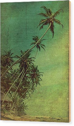 Tropical Vestige Wood Print by Andrew Paranavitana