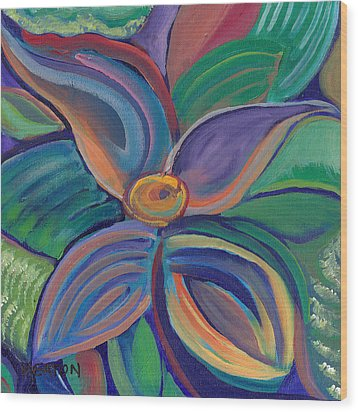 Wood Print featuring the painting Tropical Vision by John Keaton