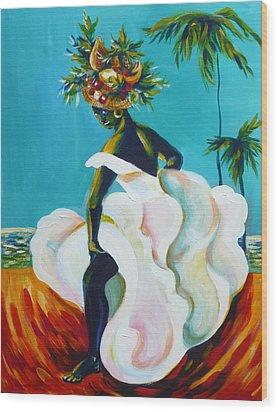 Tropicana Wood Print by Anna  Duyunova