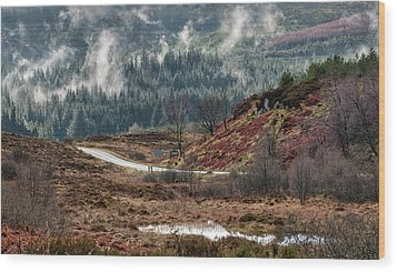 Wood Print featuring the photograph Trossachs National Park In Scotland by Jeremy Lavender Photography