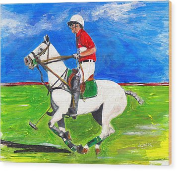 Wood Print featuring the painting Trot by Debora Cardaci