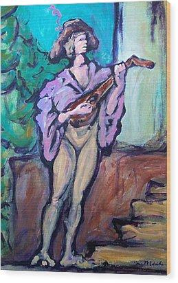 Troubadour Wood Print by Kevin Middleton