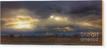 Troubled Skies Over Idaho Wood Print