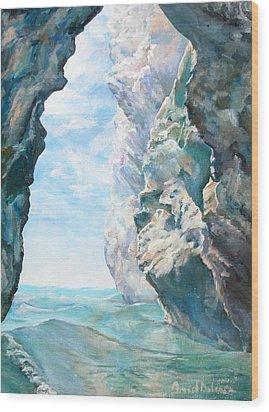 Trouee 2 Wood Print by Muriel Dolemieux