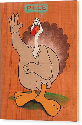 Troy Turkey - Piece Wood Print by David Wiles