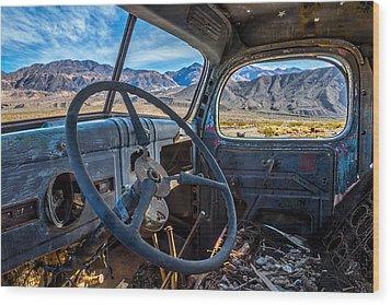 Truck Desert View Wood Print by Peter Tellone