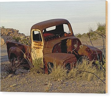 Truck Wood Print by Kerry Beverly