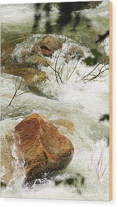 Truckey River Wood Print by Lori Mellen-Pagliaro